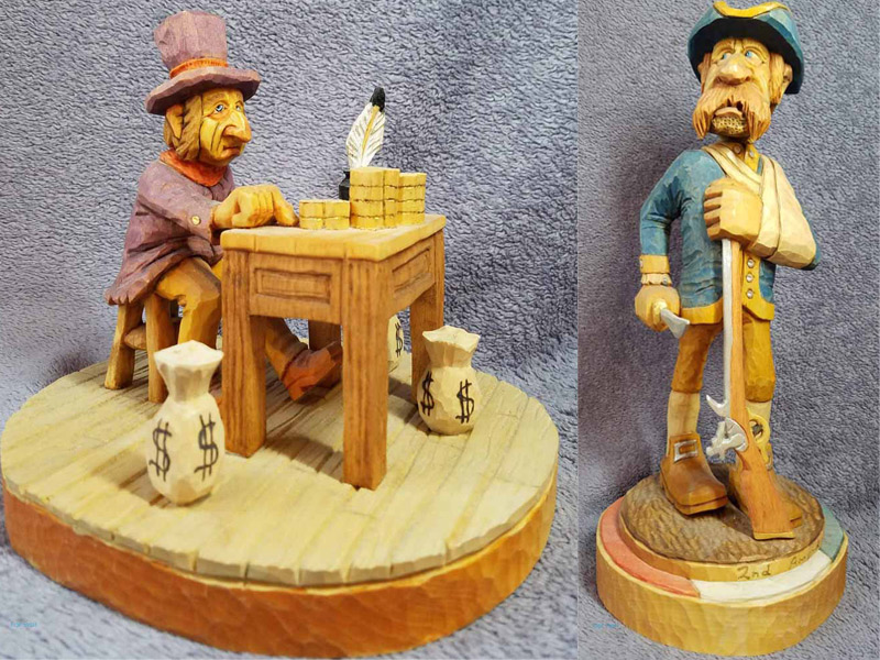 hand carved wood figurines