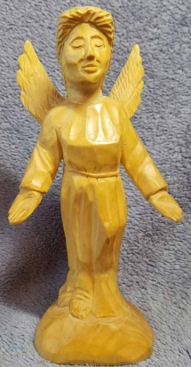Angel wood carving
