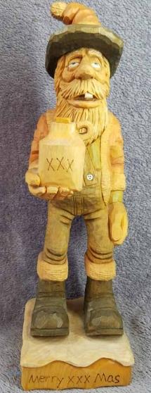 wood carved santa