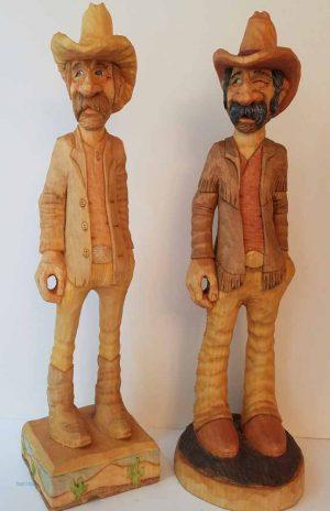 small wooden sculptures