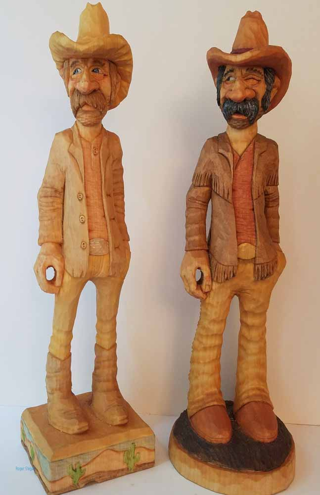 small wooden sculptures