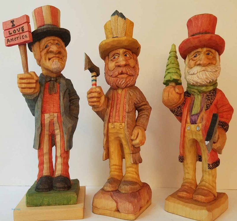 wood carving statues
