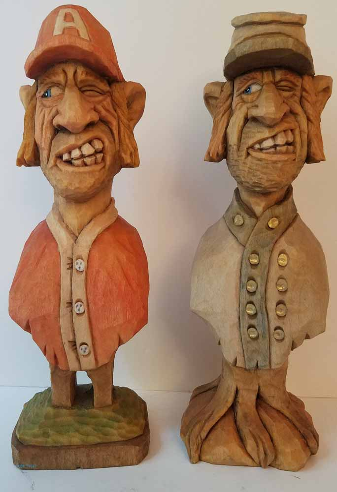 caricature wood carving roughouts